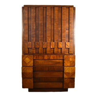 Lane Brutalist Armoire For Sale