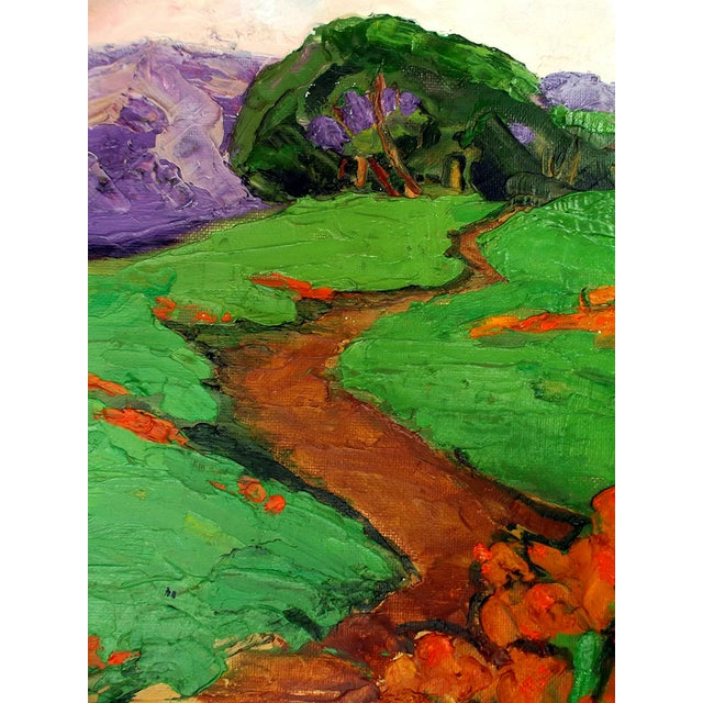 2010s Lynne French California Landscape Poppy Hills Original Painting For Sale - Image 5 of 6