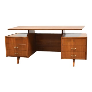 Mid Century Mahogany Executive Desk For Sale