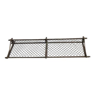 Antique American Train Luggage Rack