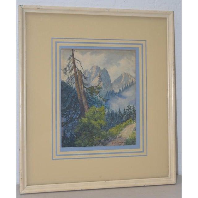 Sierra Mountain Landscape Watercolor by W.F. Jackson c.1910 Beautiful original watercolor by listed artist W.F. Jackson...