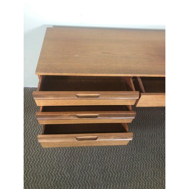 Mid-Century Modern Mid Century Modern Teak Desk or Vanity For Sale - Image 3 of 13