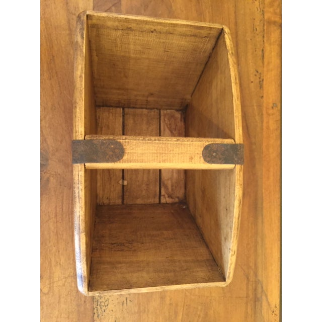 Mid 20th Century Vintage Mid-Century English Wooden Cheese and Ham Monger Basket For Sale - Image 5 of 7