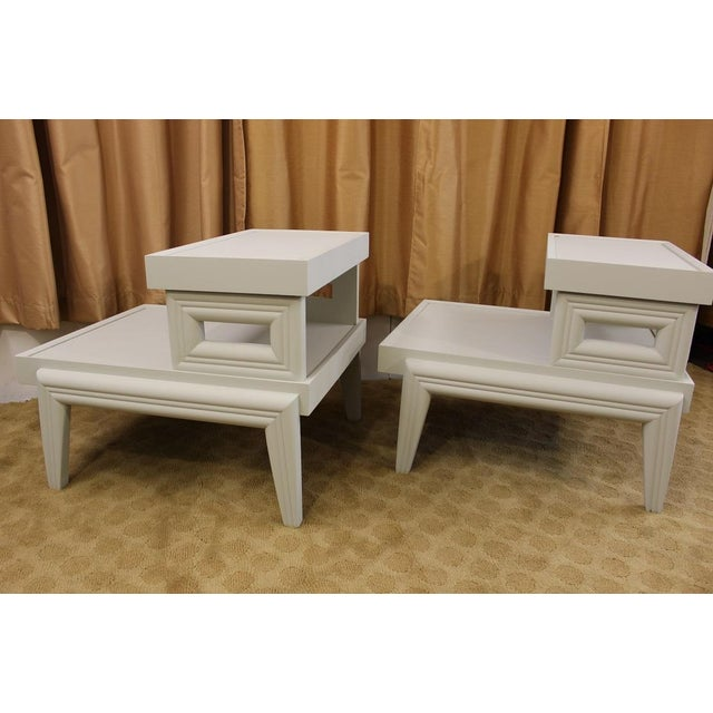 Mid-Century 1950s Step End Tables - A Pair - Image 3 of 9
