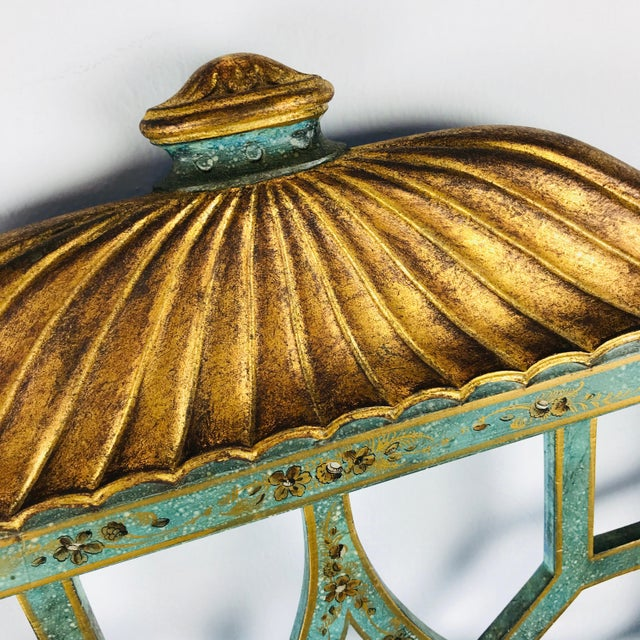 Pair of Twin Chinoiserie Pagoda Beds by Kittinger For Sale - Image 9 of 12
