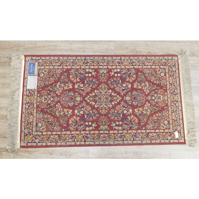 Karastan Red Sarouk #785 Rug 5' x 2' Multicolor Area Throw Rug For Sale - Image 12 of 13