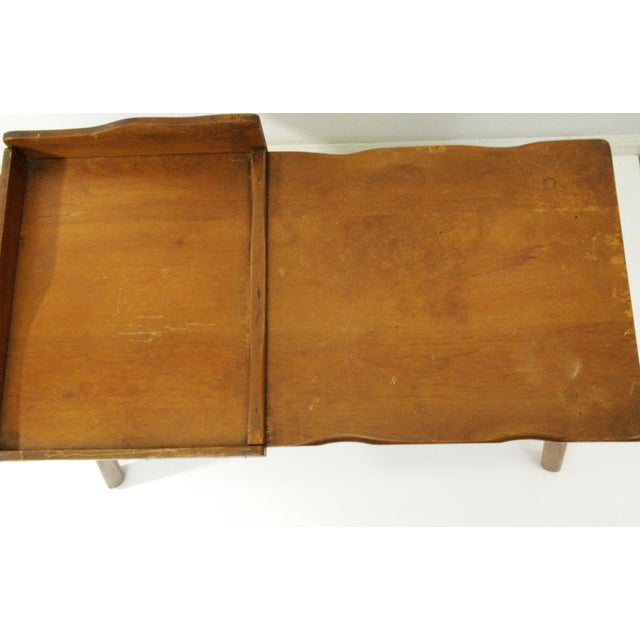 Vintage Early American Cobbler Table With Drawer For Sale - Image 5 of 7