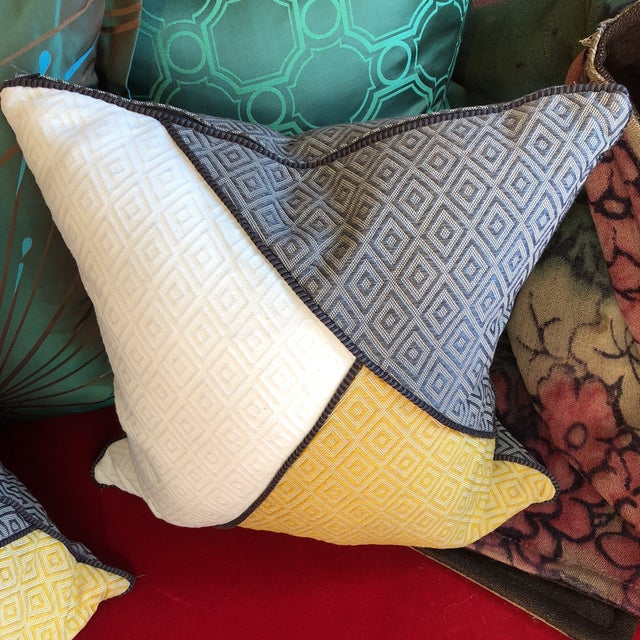 Custom Pillows in Jim Thompson Outdoor Fabric - A Pair - Image 3 of 9