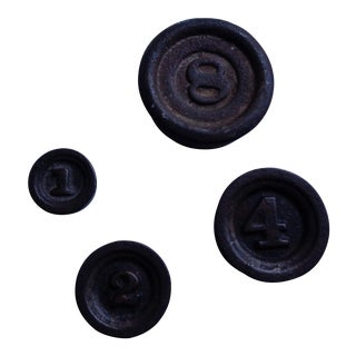 Antique Cast Iron Stacking Scale Weights - Set of 4 For Sale