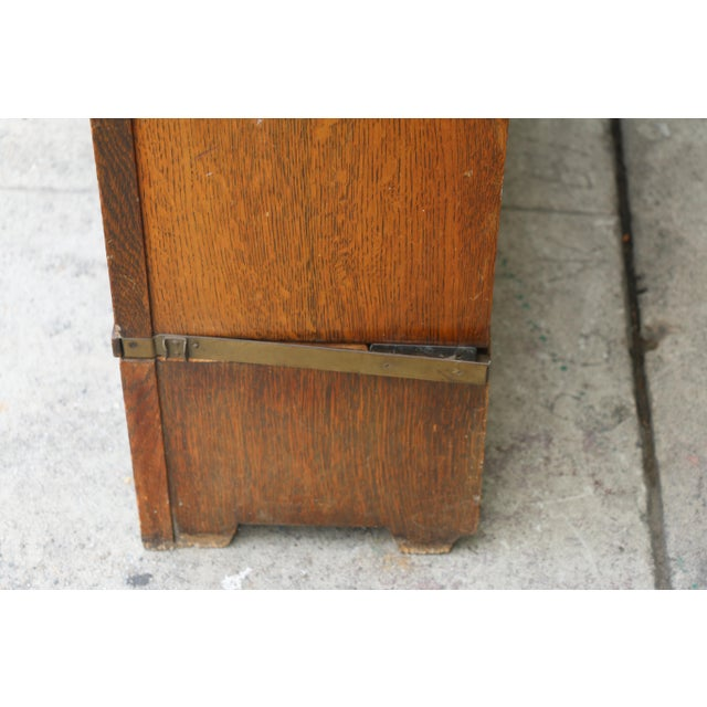 Antique Lawyers Bookcase For Sale - Image 5 of 11