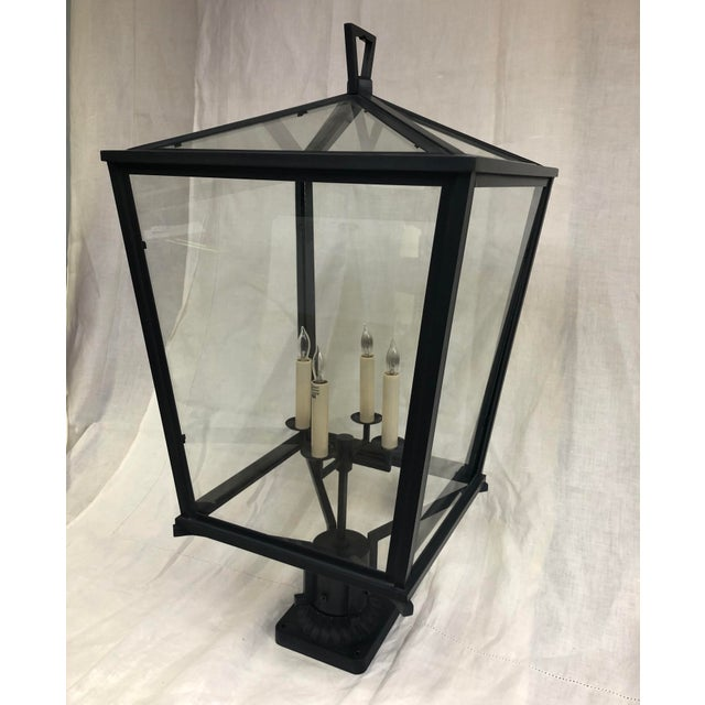 Transitional E. F. Chapman Darlana Bronze Post Lantern by Visual Comfort and Co. For Sale - Image 3 of 7