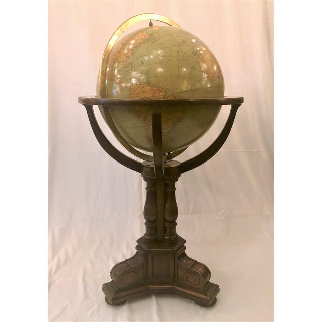 Antique American Rand McNally Standing Globe, Circa 1920. For Sale - Image 4 of 4