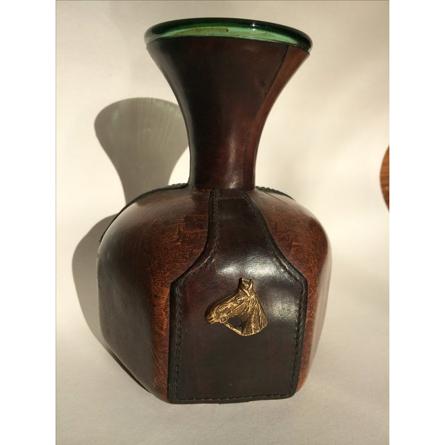 Vintage Italian Leather Wrapper Decanter - Image 2 of 9