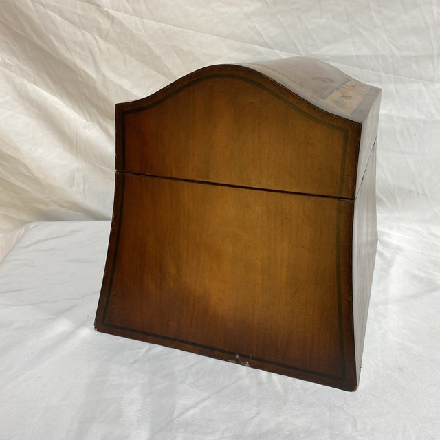1980s Maitland-Smith Inlaid Mahogany Box For Sale - Image 5 of 13