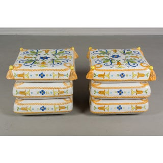 Vintage Mid Century French Ceramic Garden Stools- A Pair Preview