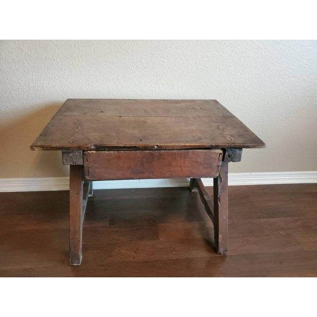18th Century Rustic Spanish Colonial Low Table For Sale - Image 10 of 11