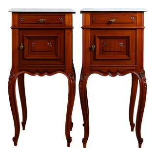 Late 19th Century French Napoleon III Nightstands - a Pair For Sale