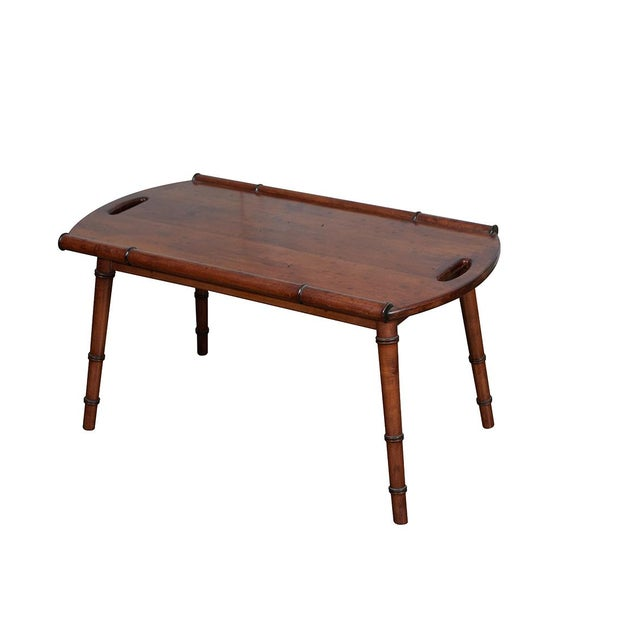 Mid-Century Faux Bamboo Coffee Table For Sale In Los Angeles - Image 6 of 6
