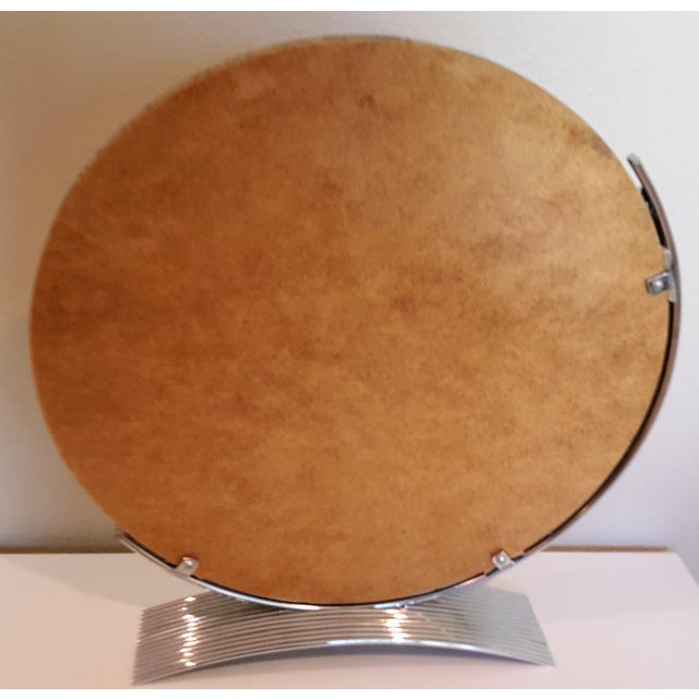 Chrome Art Deco Style Table Mirror For Sale - Image 4 of 5