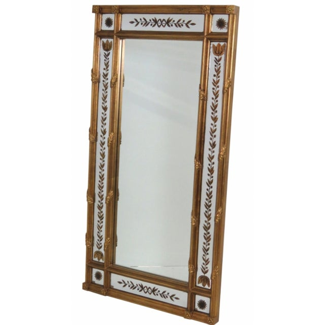 Gilt Frame Églomisé Mirror - Image 1 of 3