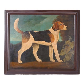 William Skilling Oil Painting of a Dog For Sale