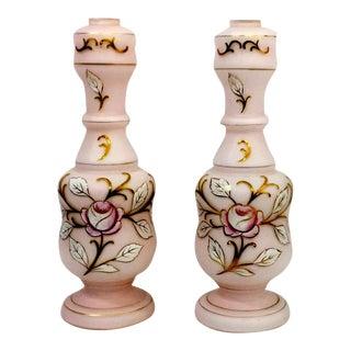 1930s Art Deco Satin Glass Lamp Bodies, a Pair For Sale
