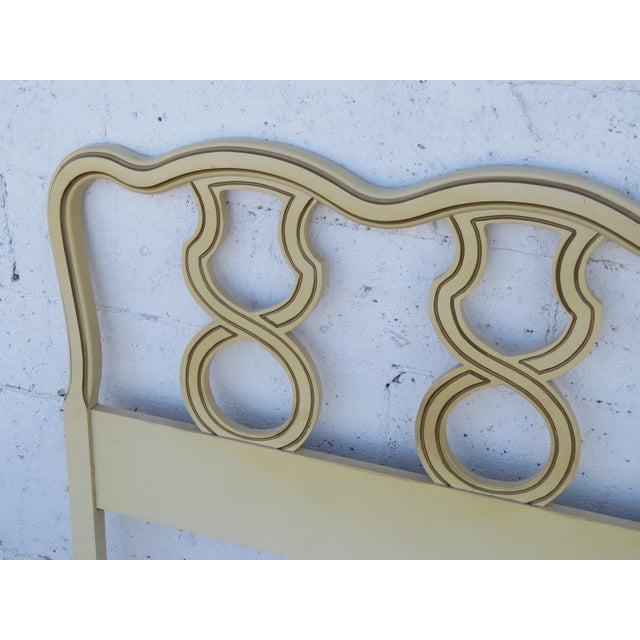 French King Size Painted Headboard For Sale - Image 4 of 11