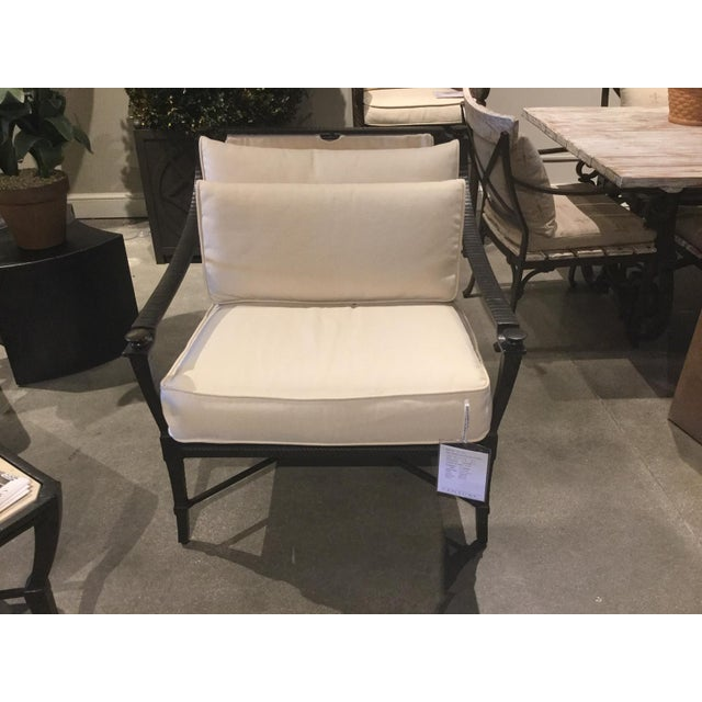 Neoclassical Century Furniture Andalusia Royal Outdoor Lounge Chair For Sale - Image 3 of 4