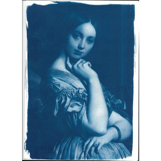 Cyanotype Print - Ingres Portrait of Young Woman - Image 2 of 4