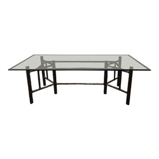 McGuire Bamboo + Leather Wrap Dining Table