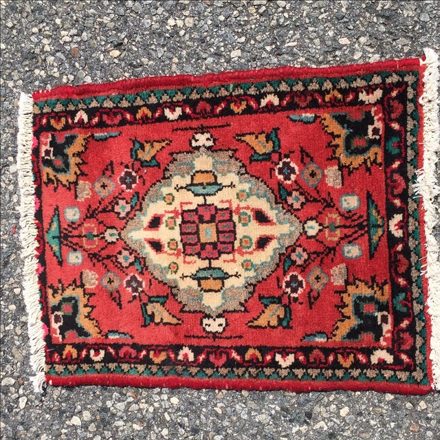 Hamadan Persian Rug - 1′6″ × 2′ - Image 3 of 8