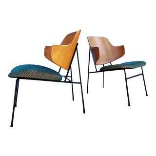 """Danish Modern """"Penguin"""" Chairs by Ib Kofod Larsen for Selig - a Pair For Sale"""