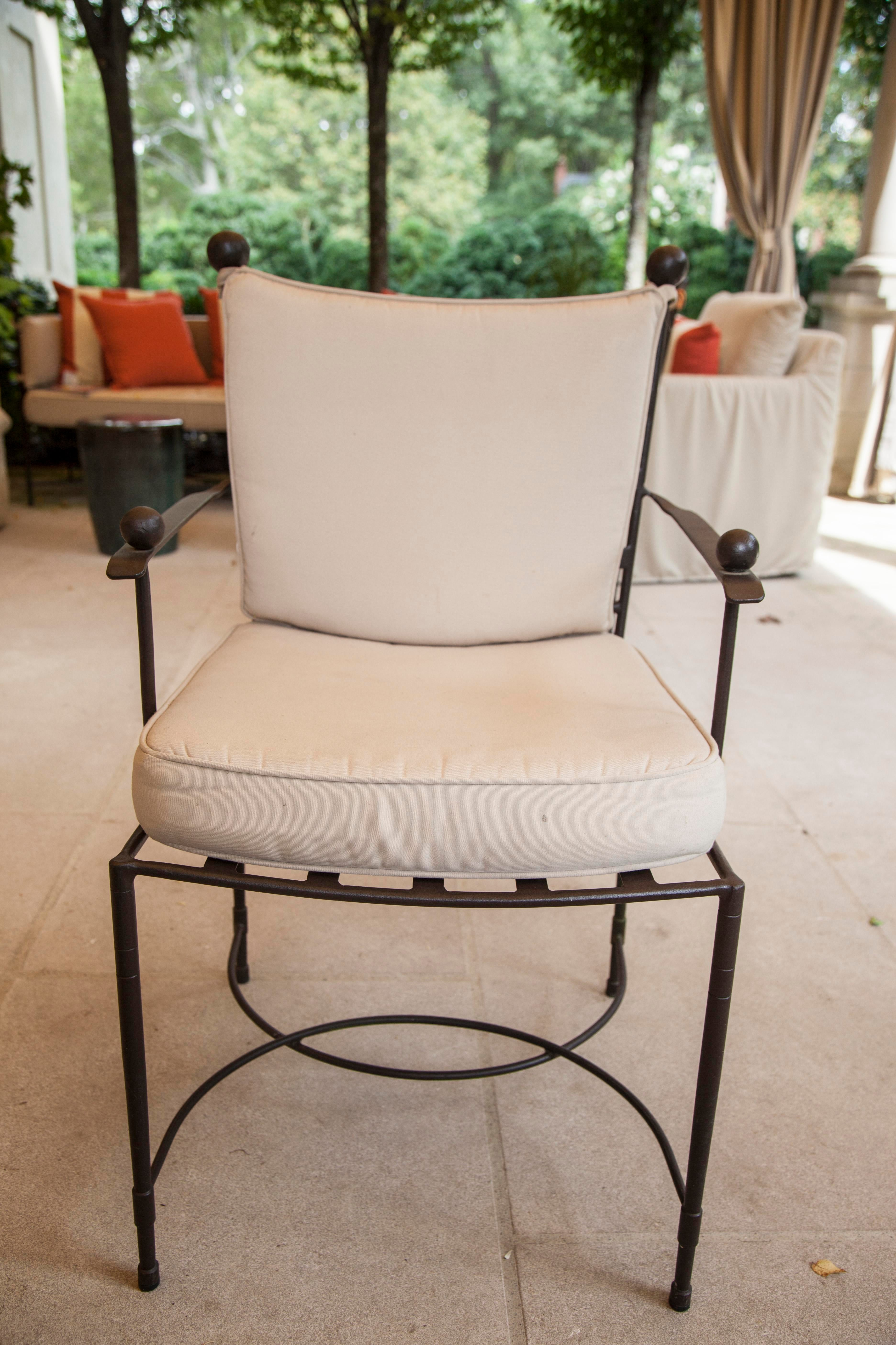 Janus Et Cie, Inc. Outdoor Iron Chairs   Set Of 6   Image 5