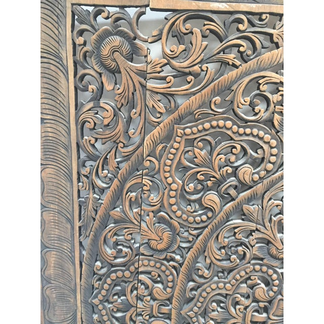 Superior Hand-Carved Balinese Oversized Decorative Teak Wall or ...