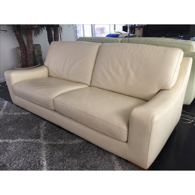 Modern Roche Bobois Leather Sofa Sleeper For Sale - Image 3 of 9