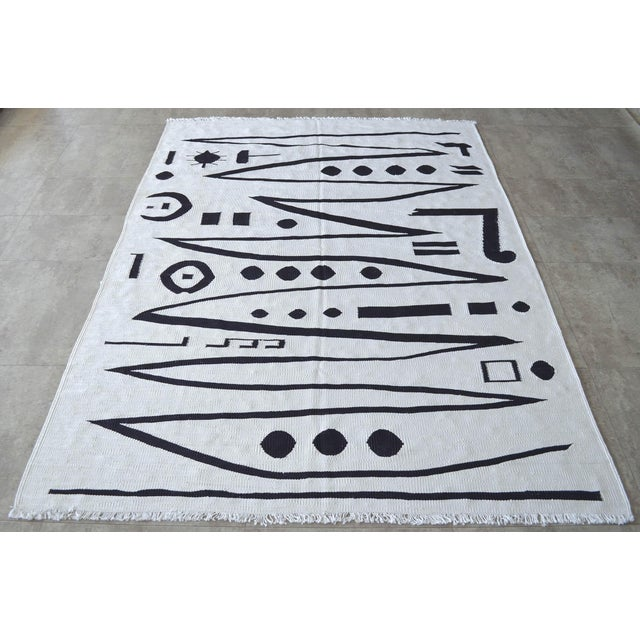 Paul Klee Paul Klee - Heroic Strokes of the Bow - Inspired Silk Hand Woven Area - Wall Rug 5′ × 6′9″ For Sale - Image 4 of 11