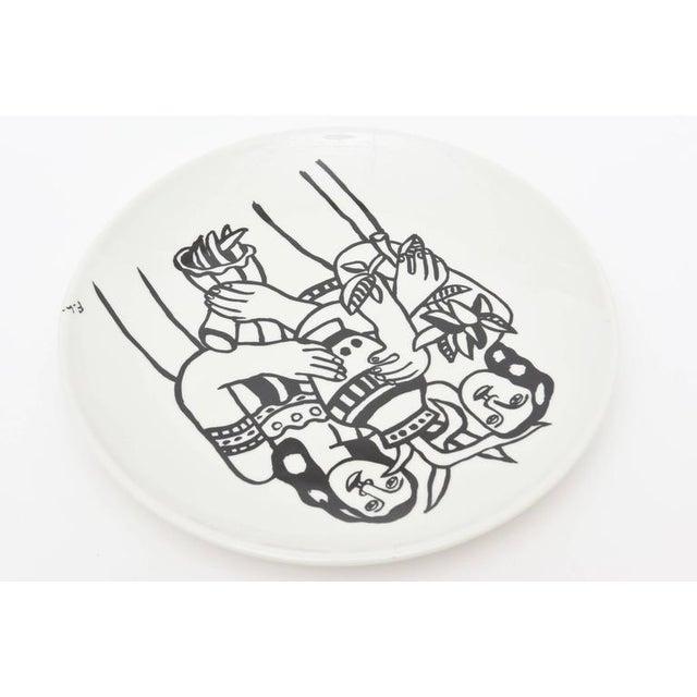 Modern After Fernand Leger Porcelain Plate For Sale - Image 3 of 8