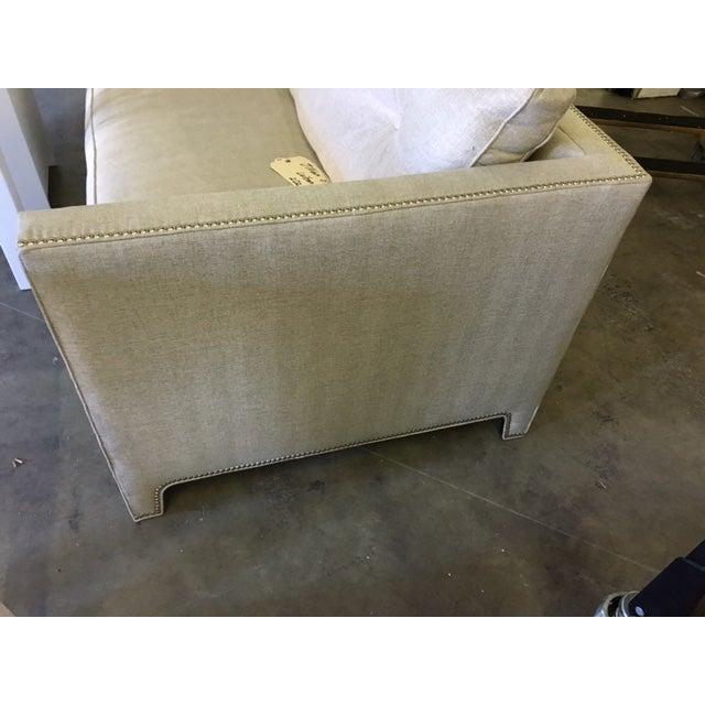Contemporary Linen Sofa - Image 8 of 9
