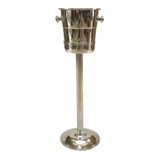 Art Deco Style Silver Plate Champagne Bucket For Sale