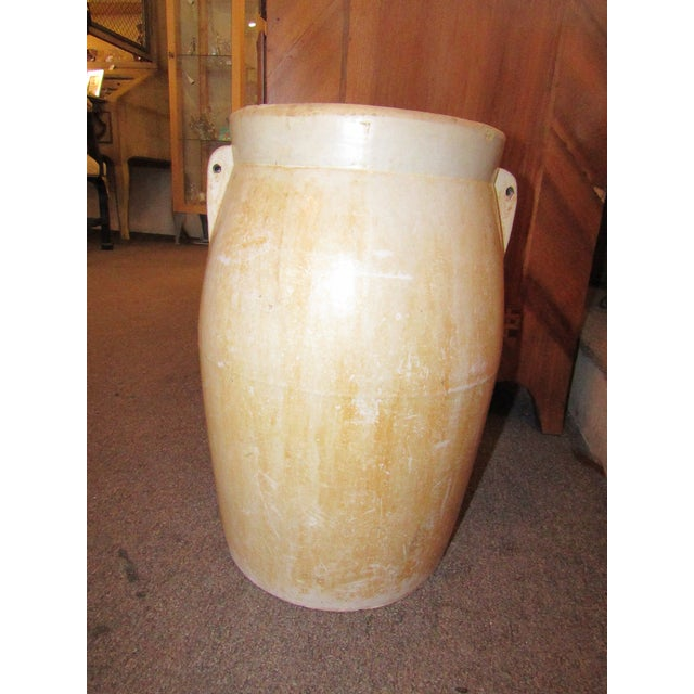 Antique Cream Stoneware Crock For Sale - Image 4 of 5