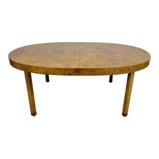 Burl & Brass Dining Table