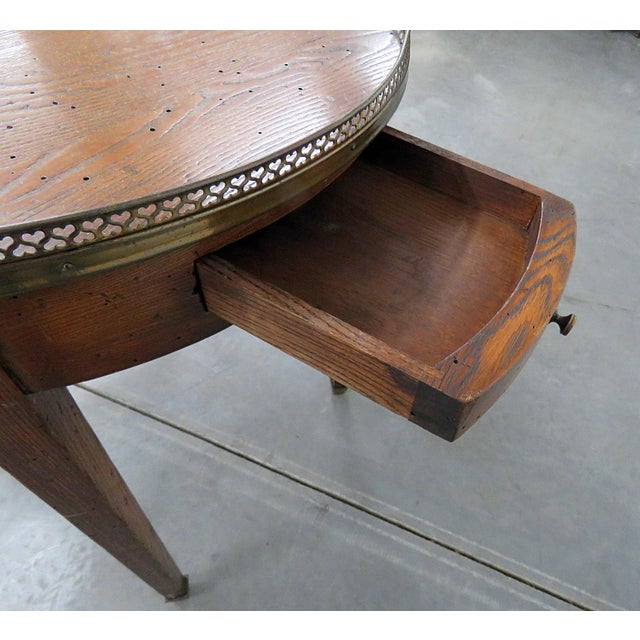 Antique Louis XIV Style Bouillotte Table For Sale - Image 9 of 10