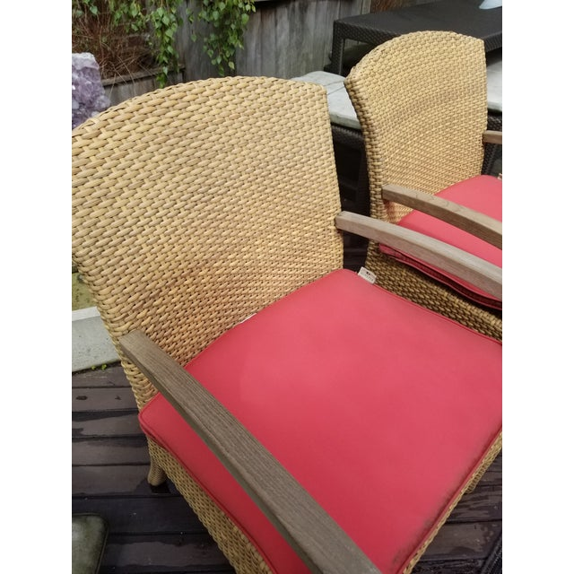 Boho Chic Gloster Plantation Outdoor Dining Armchairs - a Pair For Sale - Image 3 of 9