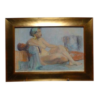1953 Reclining African American Nude Painting by Albert J Londraville For Sale