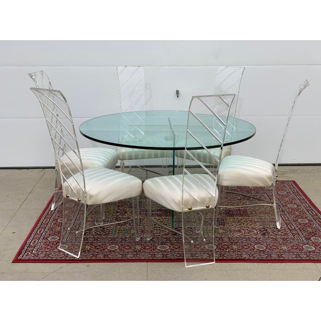 Lucite and Glass Dining Set - 7 Pieces For Sale - Image 10 of 10