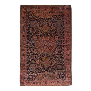1900s Traditional Antique Saruk Wool Rug