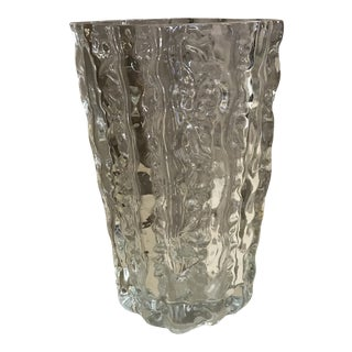 American Textured Glass Vase For Sale