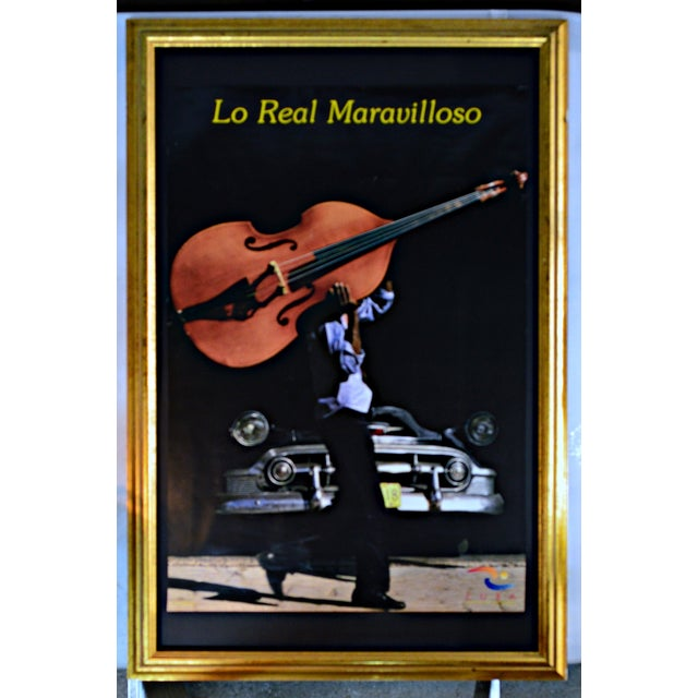 """Contemporary """"Lo Real Maravilloso"""" Framed Cuban Poster For Sale - Image 3 of 3"""