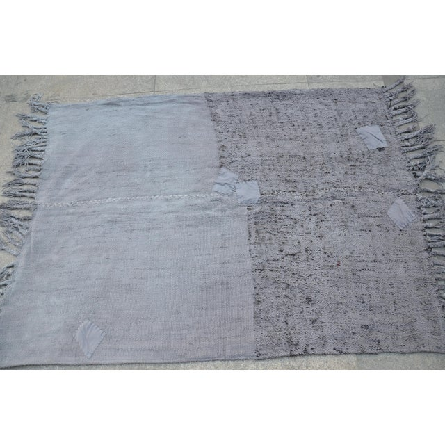 "Turkish Tribal Hemp Rug - 50"" x 67"" For Sale - Image 5 of 7"