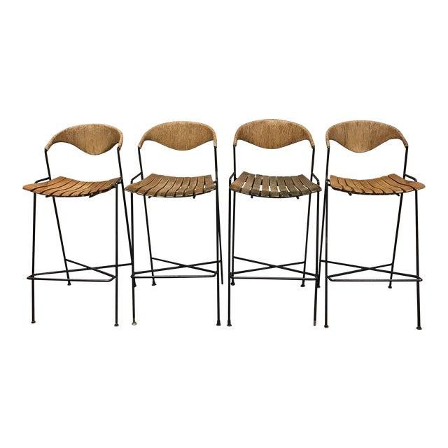Arthur Umanoff Mid-Century Modern Bar Stools- Set of 4 - Image 1 of 7